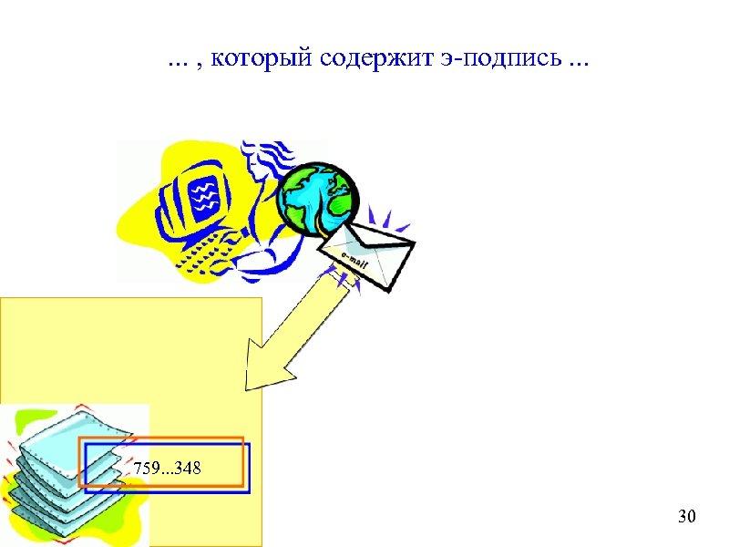 . . . , который содержит э-подпись. . . 759. . . 348 30