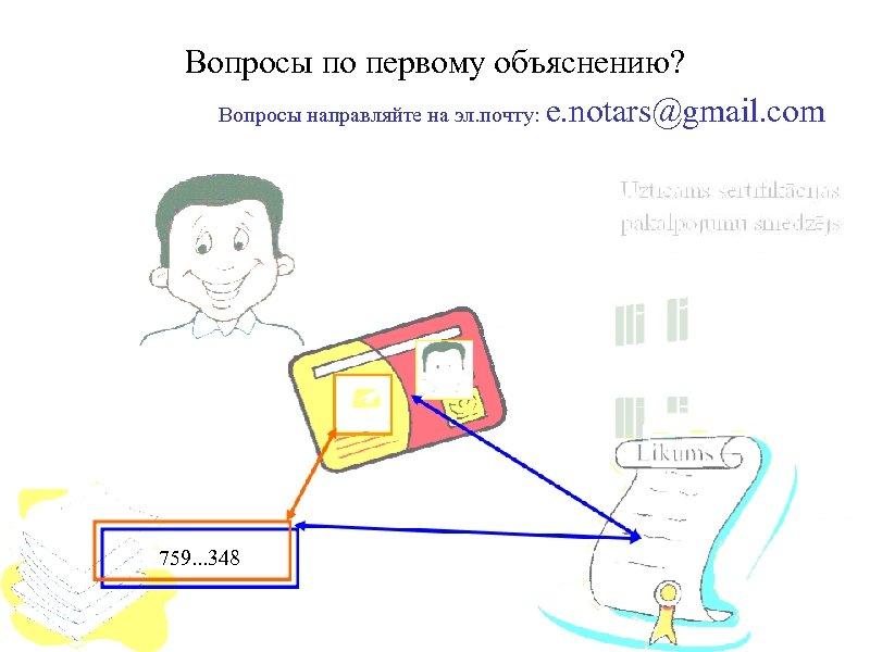 Вопросы по первому объяснению? Вопросы направляйте на эл. почту: e. notars@gmail. com 759. .
