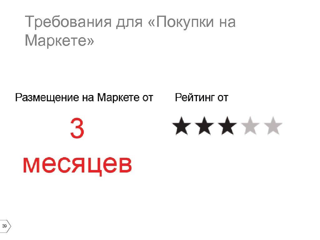 Требования для «Покупки на Маркете» 39