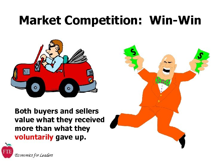 Market Competition: Win-Win Both buyers and sellers value what they received more than what