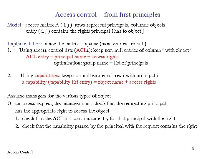 Access control authorisation in distributed systems recall lecture