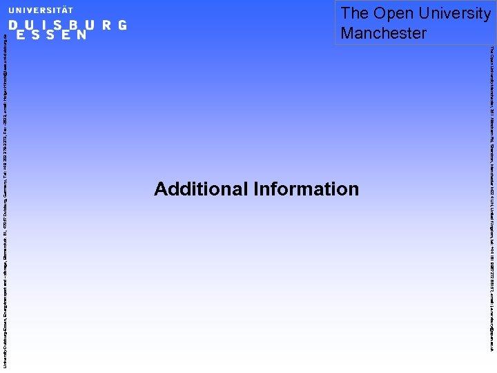 University Duisburg-Essen, Energytransport and –sforage, Bismarckstr. 81, 47057 Duisburg, Germany, Tel: +49 203 379