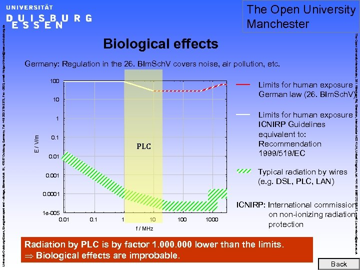 Biological effects Germany: Regulation in the 26. BIm. Sch. V covers noise, air pollution,