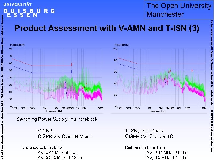 Product Assessment with V-AMN and T-ISN (3) Switching Power Supply of a notebook V-NNB,