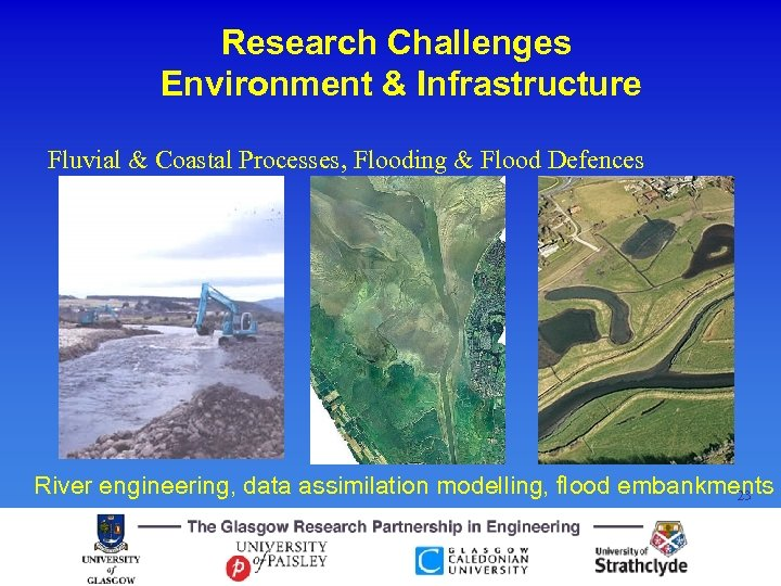 Research Challenges Environment & Infrastructure Fluvial & Coastal Processes, Flooding & Flood Defences River