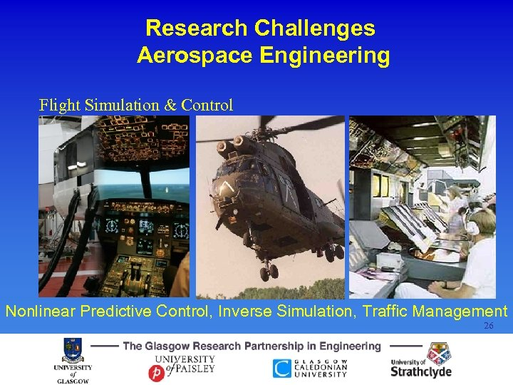 Research Challenges Aerospace Engineering Flight Simulation & Control Nonlinear Predictive Control, Inverse Simulation, Traffic