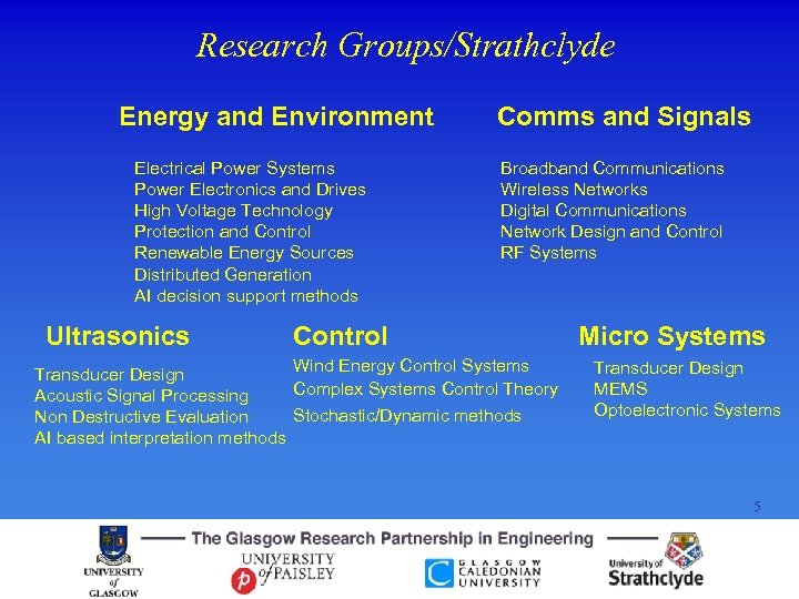 Research Groups/Strathclyde Energy and Environment Electrical Power Systems Power Electronics and Drives High Voltage