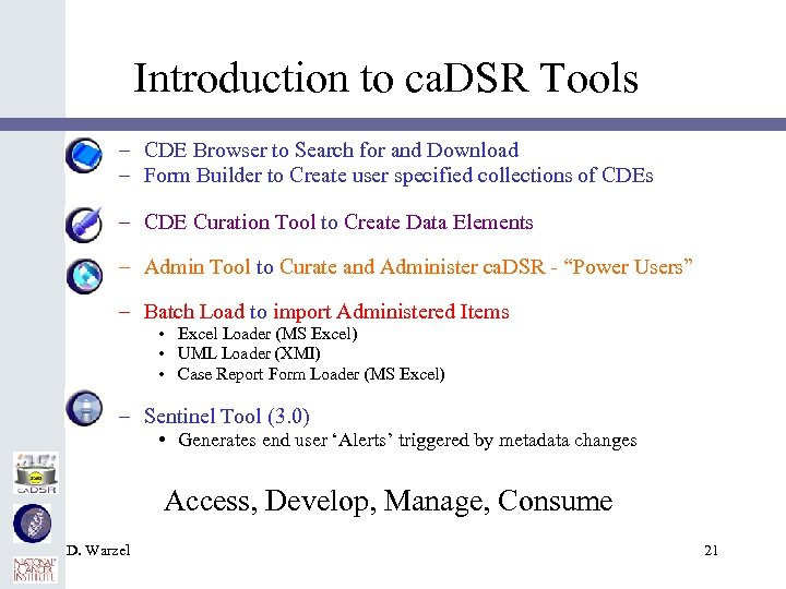 Introduction to ca. DSR Tools – CDE Browser to Search for and Download –