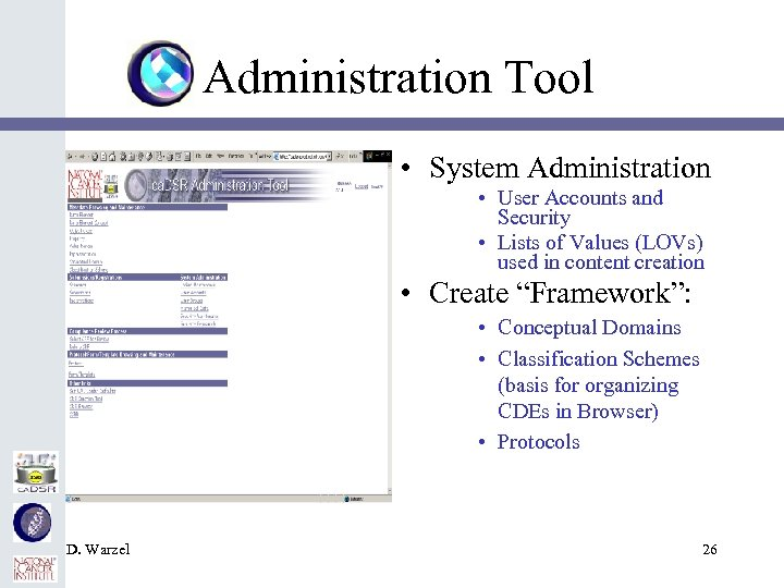 Administration Tool • System Administration • User Accounts and Security • Lists of Values