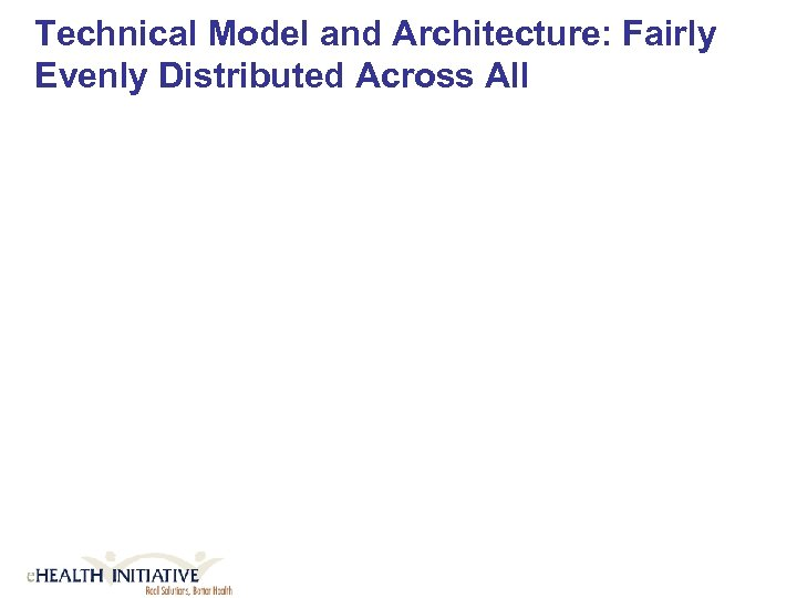 Technical Model and Architecture: Fairly Evenly Distributed Across All