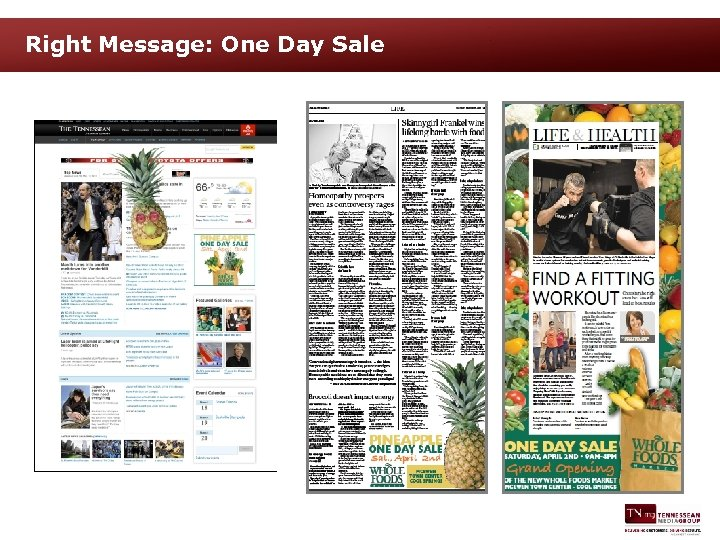 Right Message: One Day Sale