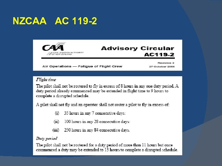 NZCAA AC 119 -2