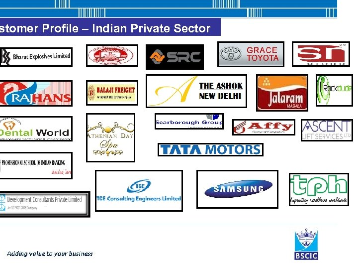 stomer Profile – Indian Private Sector