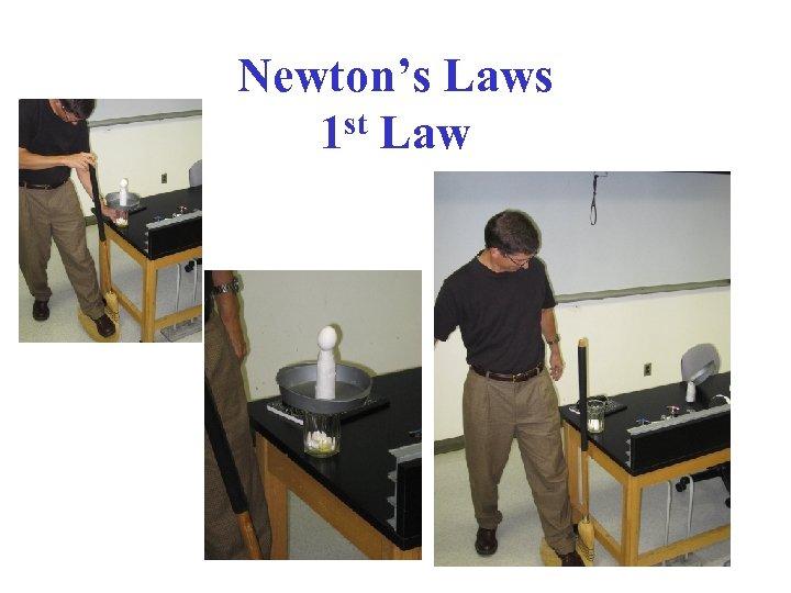 Newton's Laws 1 st Law