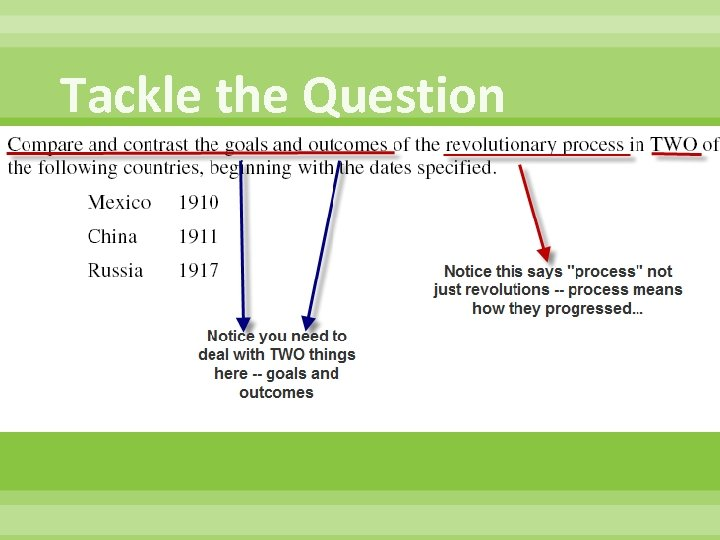 Tackle the Question