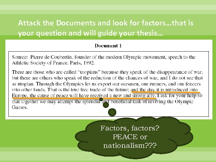 modern olympics dbq essay The olympics has always been thought of as a sort of international peace treaty for countries all around to have friendly competition and for the whole world to have something in common many factors shape how the olympics turn out though, be it negative or positive.