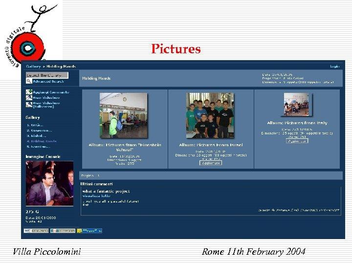 Pictures Villa Piccolomini Rome 11 th February 2004