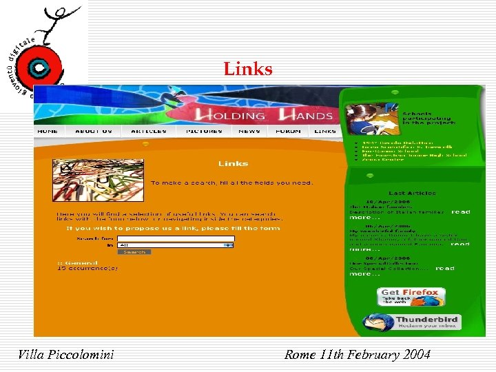 Links Villa Piccolomini Rome 11 th February 2004