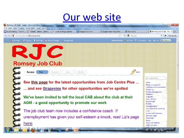 Our web site 9