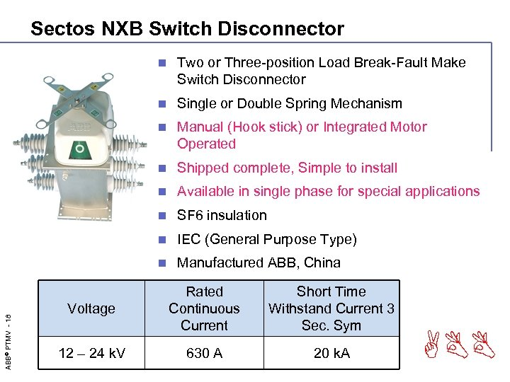 Sectos NXB Switch Disconnector Two or Three-position Load Break-Fault Make Switch Disconnector n Single