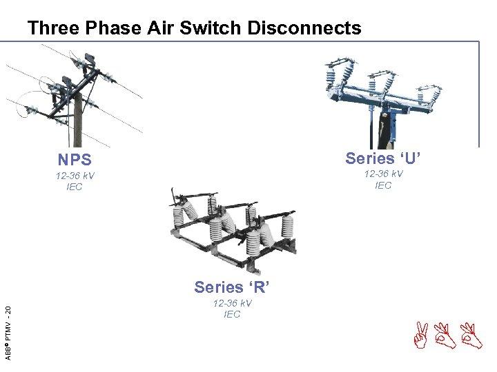 Three Phase Air Switch Disconnects Series 'U' NPS 12 -36 k. V IEC ABB©