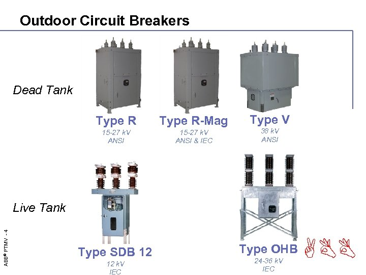 Outdoor Circuit Breakers Dead Tank Type R-Mag 15 -27 k. V ANSI & IEC