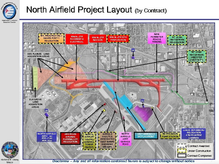 North Airfield Project Layout (by Contract) MT. PROSPECT RD. / GUARD POST 1 RELOCATION