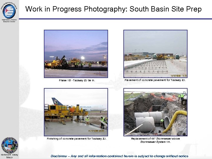 Work in Progress Photography: South Basin Site Prep Phase 1 B - Taxiway ZJ