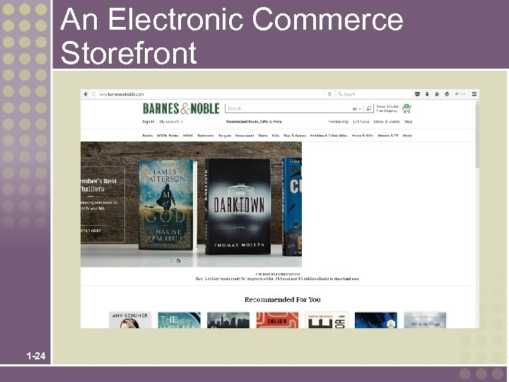 An Electronic Commerce Storefront 1 -24