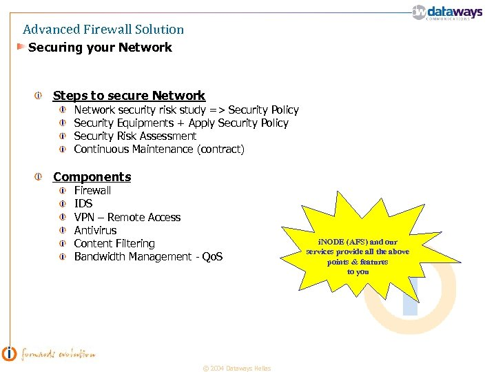 Advanced Firewall Solution Securing your Network Steps to secure Network security risk study =>