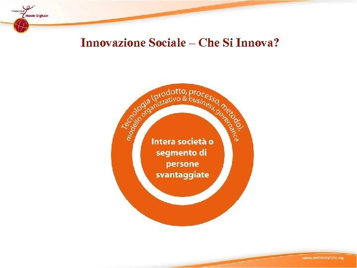 Innovazione Sociale – Che Si Innova?