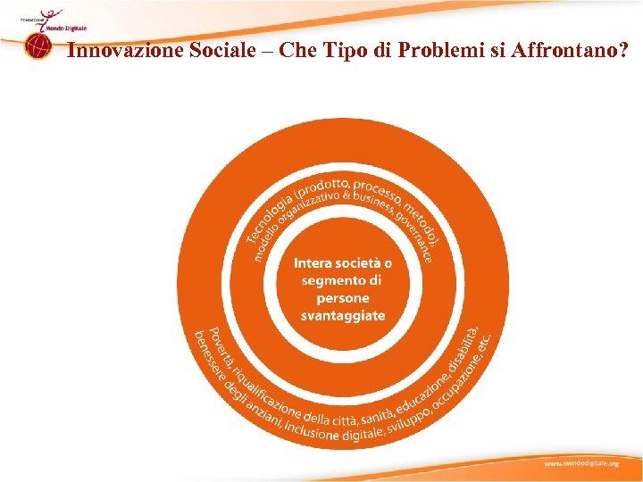 Innovazione Sociale – Che Tipo di Problemi si Affrontano?