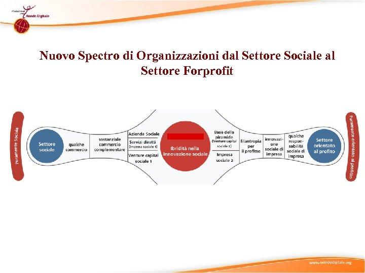 Nuovo Spectro di Organizzazioni dal Settore Sociale al Settore Forprofit