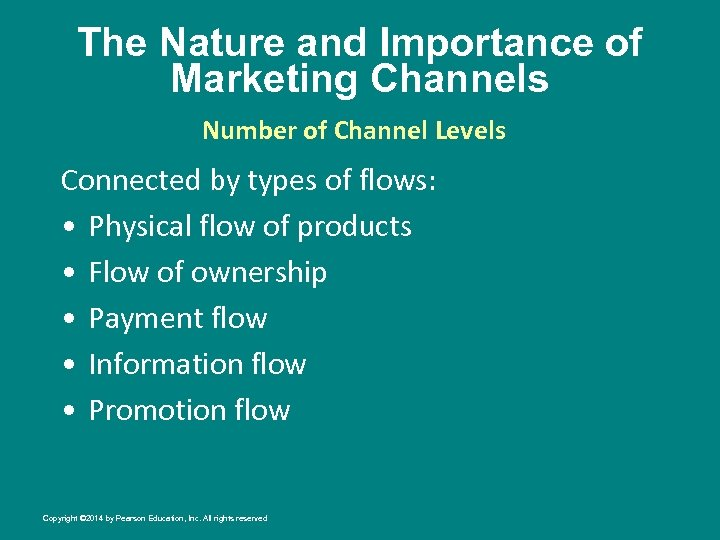 The Nature and Importance of Marketing Channels Number of Channel Levels Connected by types