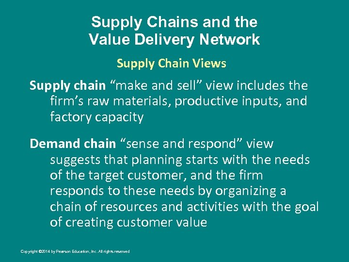 """Supply Chains and the Value Delivery Network Supply Chain Views Supply chain """"make and"""