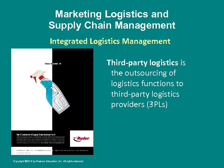 Marketing Logistics and Supply Chain Management Integrated Logistics Management Third-party logistics is the outsourcing