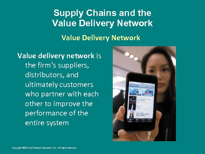 Supply Chains and the Value Delivery Network Value delivery network is the firm's suppliers,