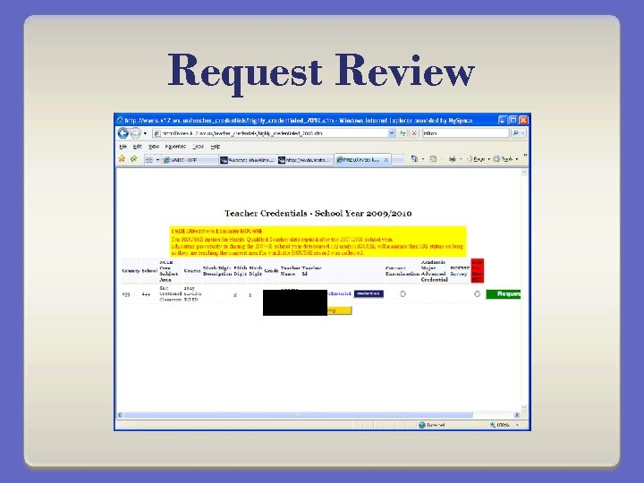 Request Review