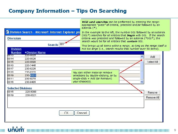 Company Information – Tips On Searching Wild card searches can be performed by entering