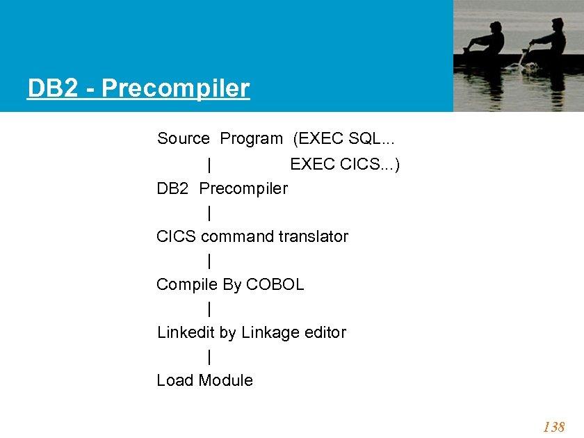 DB 2 - Precompiler Source Program (EXEC SQL. . .   EXEC CICS. .