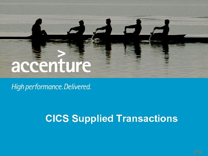 CICS Supplied Transactions 176