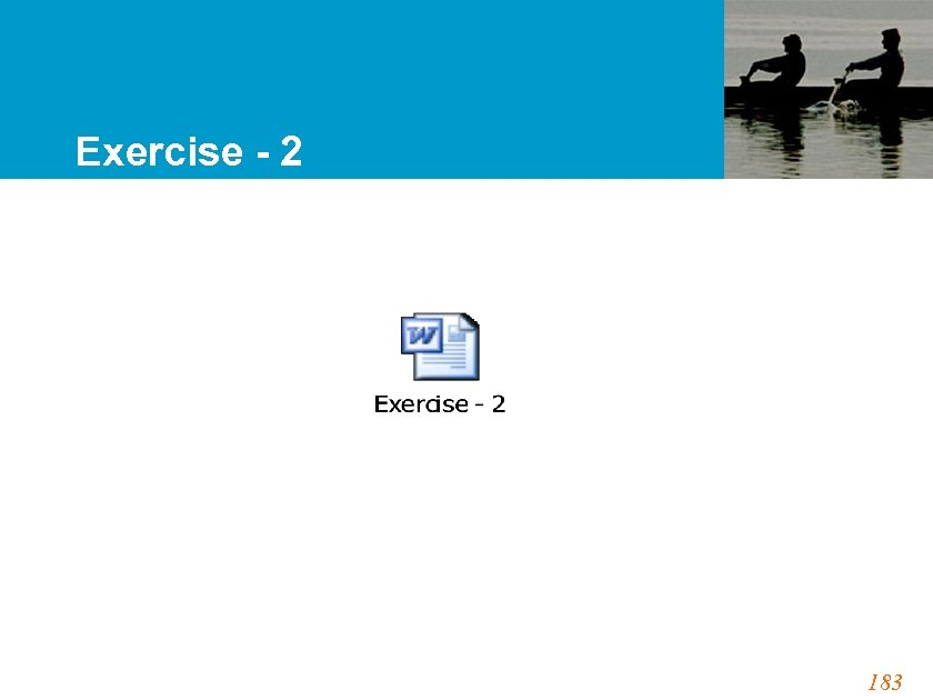 Exercise - 2 183
