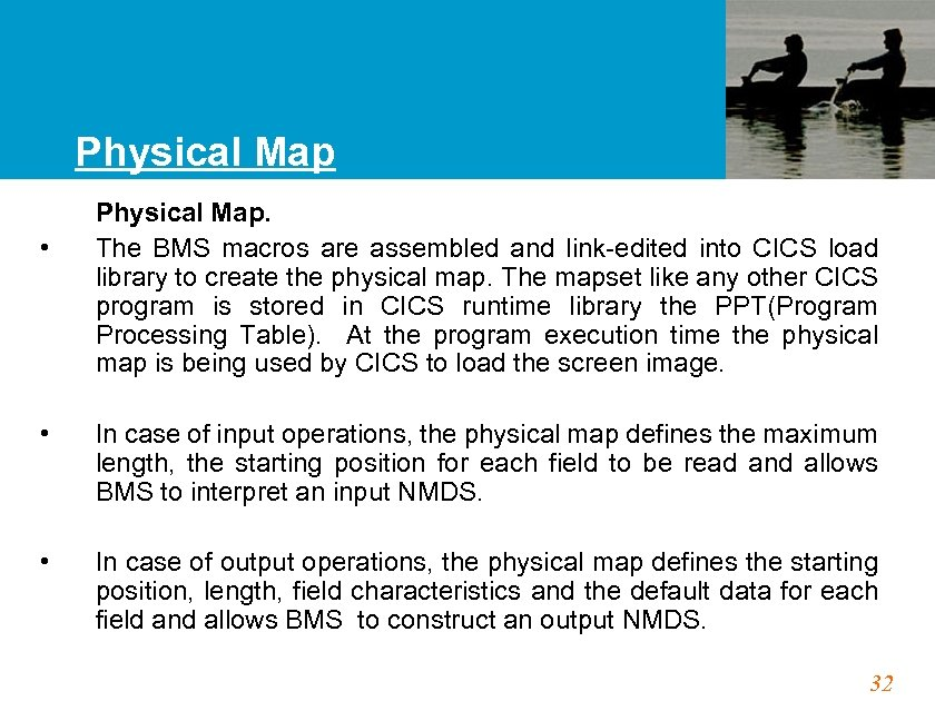 Physical Map • • • Physical Map. The BMS macros are assembled and link-edited