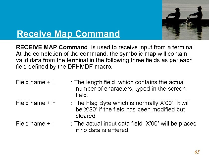 Receive Map Command RECEIVE MAP Command is used to receive input from a terminal.