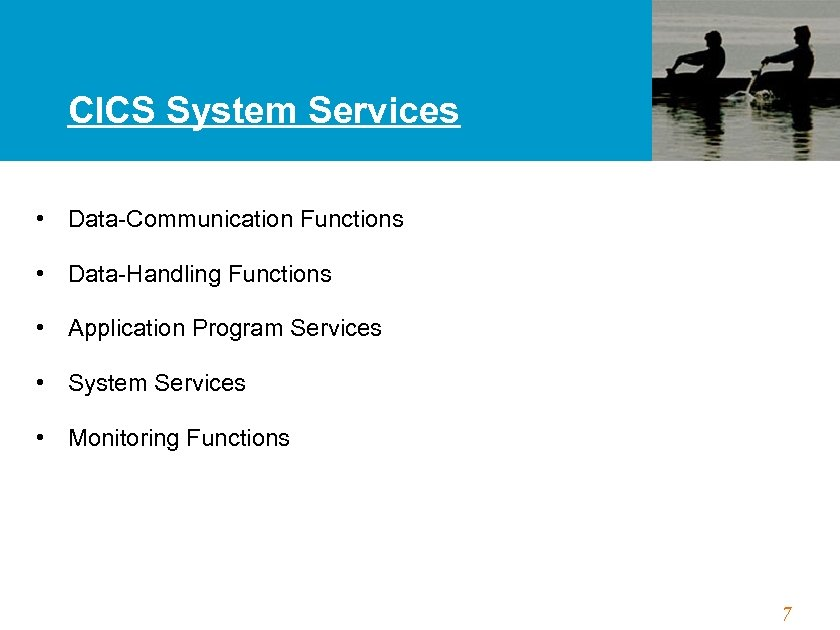 CICS System Services • Data-Communication Functions • Data-Handling Functions • Application Program Services •