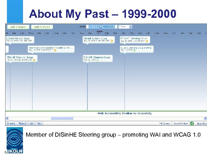 About My Past – 1999 -2000 Member of DISin. HE Steering group – promoting