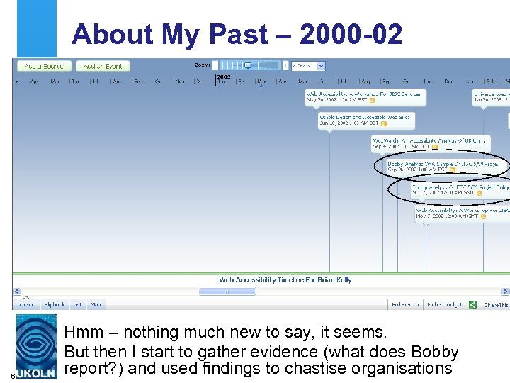 About My Past – 2000 -02 6 Hmm – nothing much new to say,