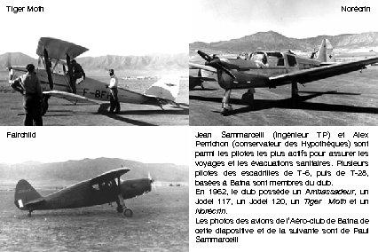 Tiger Moth Fairchild Norécrin Jean Sammarcelli (ingénieur TP) et Alex Perrichon (conservateur des Hypothèques)