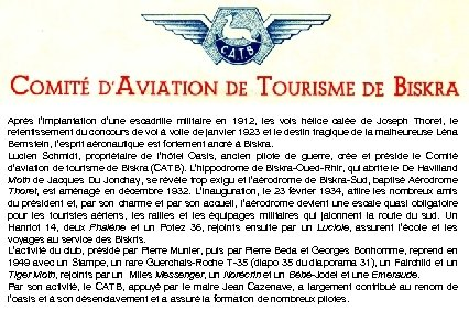 Après l'implantation d'une escadrille militaire en 1912, les vols hélice calée de Joseph Thoret,