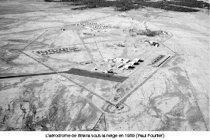 L'aérodrome de Biskra sous la neige en 1959 (Paul Fourtier)